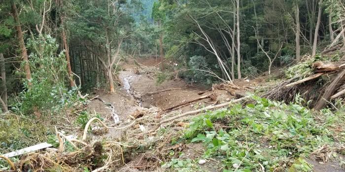 大野地区台風災害